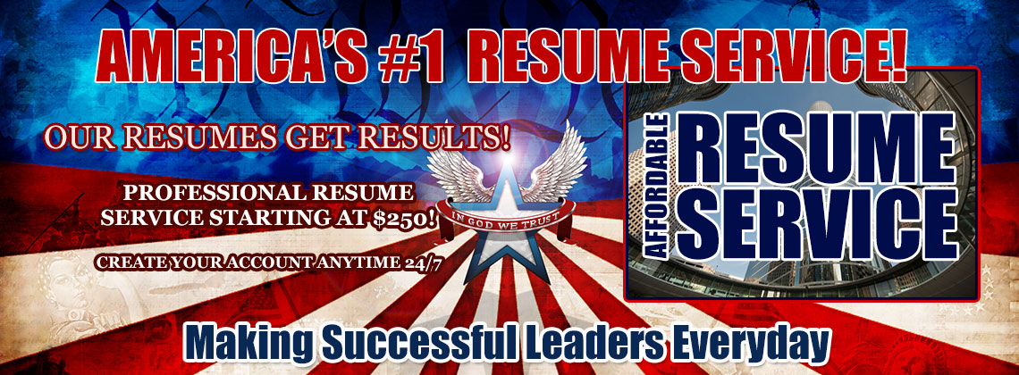 Affordable Resume Service... IMPRESSING EMPLOYERS SINCE 1997!